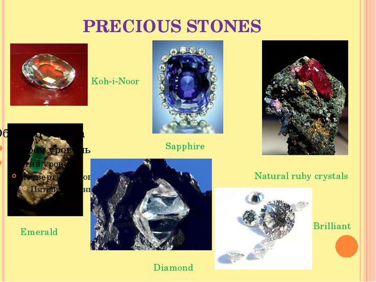 PRECIOUS STONES Emerald Natural ruby crystals Sapphire Diamond Brilliant Koh-...