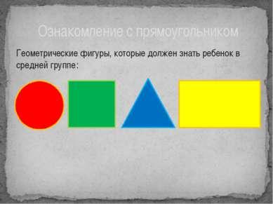 Ознакомление с прямоугольником ведётся в сравнении с квадратом