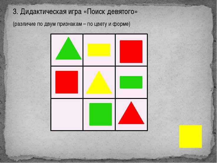 Цель: научить детей различать и правильно называть геометрические фигуры Ход ...