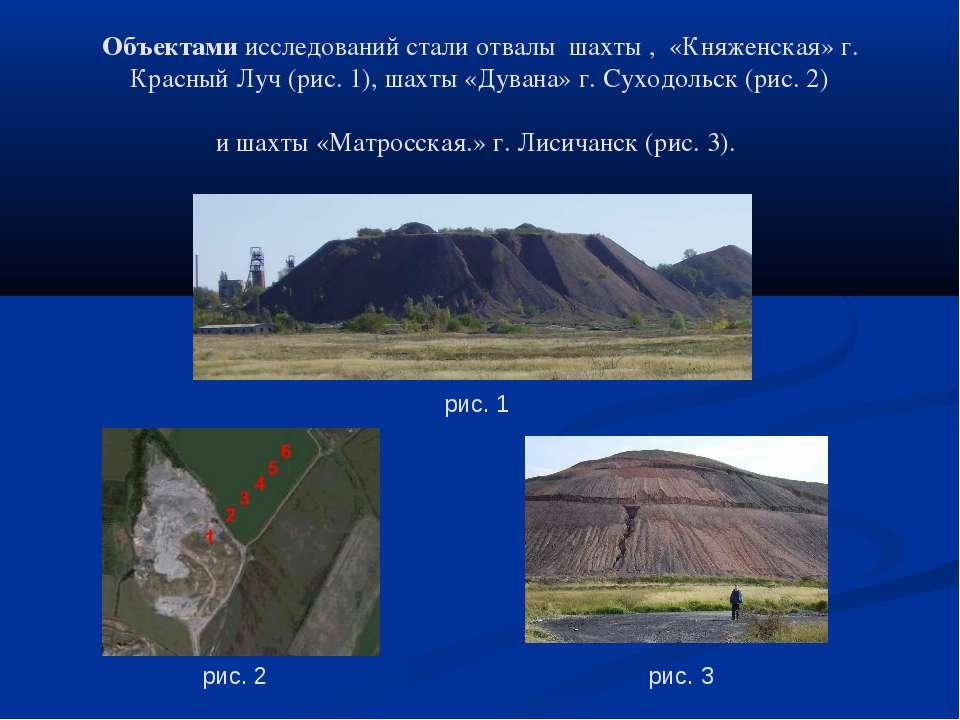 Объектами исследований стали отвалы шахты , «Княженская» г. Красный Луч (рис....