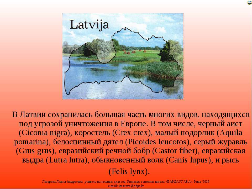 В Латвии сохранилась большая часть многих видов, находящихся под угрозой унич...