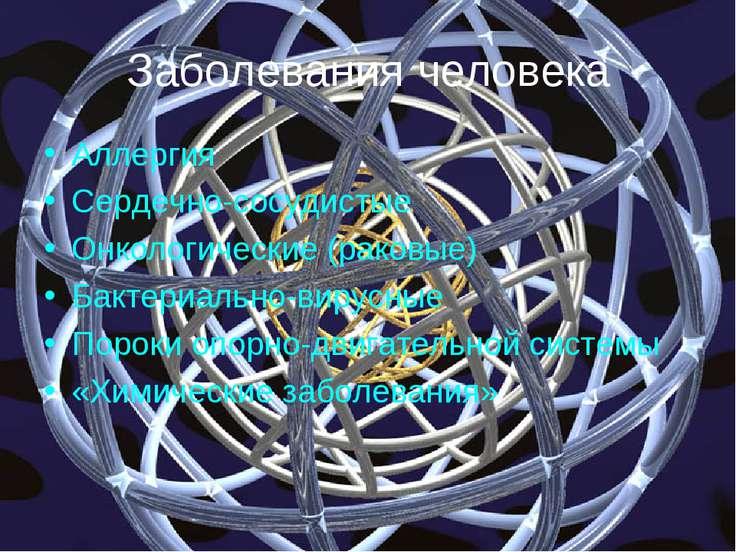 Заболевания человека Аллергия Сердечно-сосудистые Онкологические (раковые) Ба...