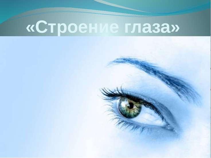 «Строение глаза»