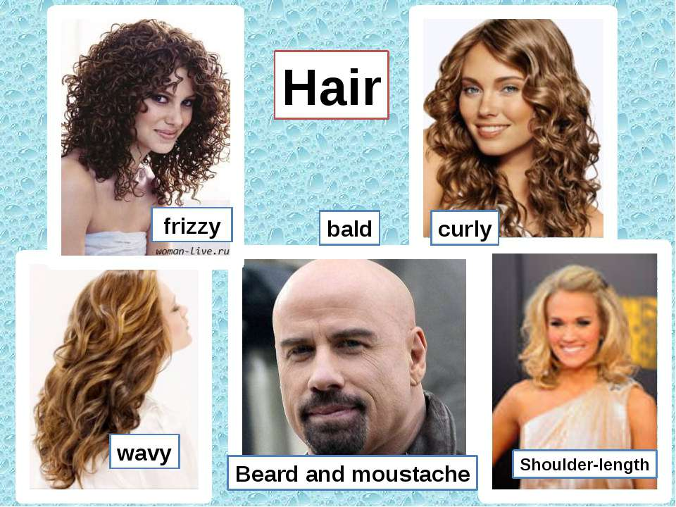 Hair frizzy curly wavy Shoulder-length Beard and moustache bald