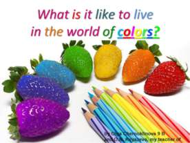 What is it like to live in the world of colors?