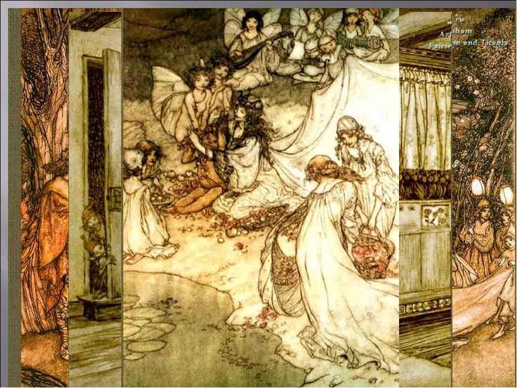 Артур Рэкхем (1867–1939) английский иллюстратор, который, работая надиллюстр...