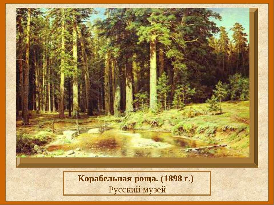 Корабельная роща. (1898 г.) Русский музей