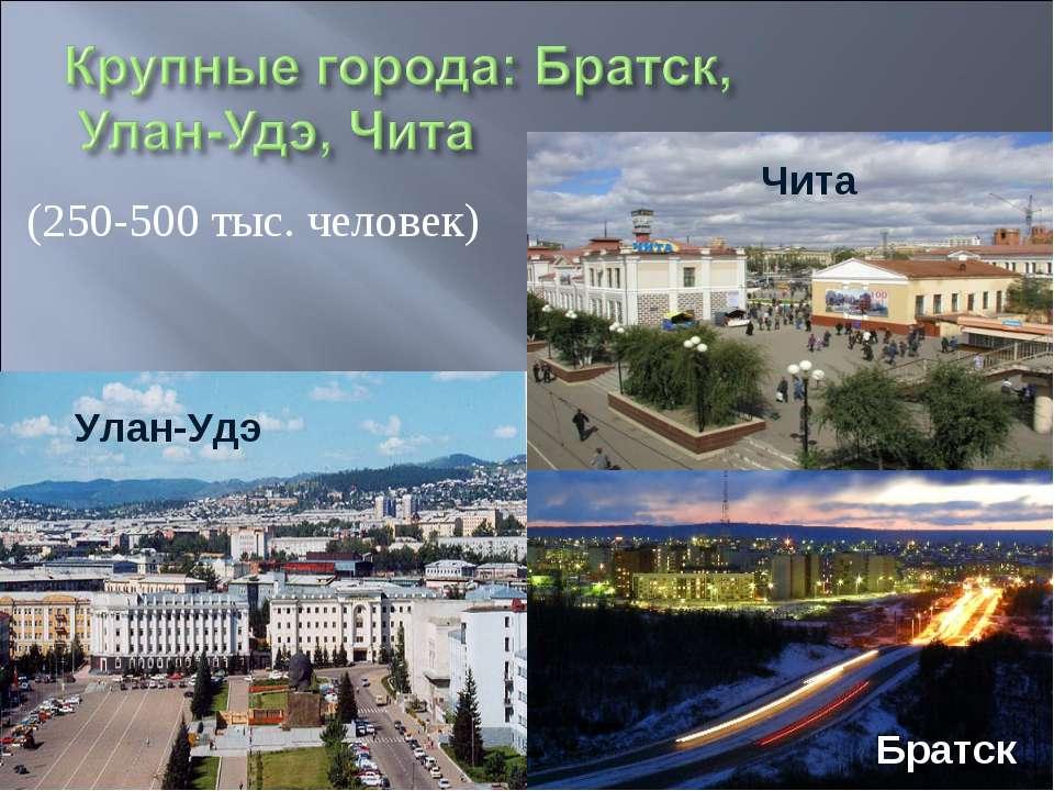 (250-500 тыс. человек) Чита Улан-Удэ Братск