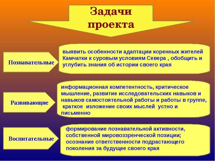 Задачи проекта Познавательные Развивающие Воспитательные информационная компе...