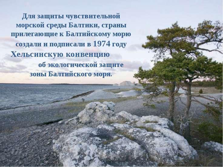 Для защиты чувствительной морской среды Балтики, страны прилегающие к Балтийс...
