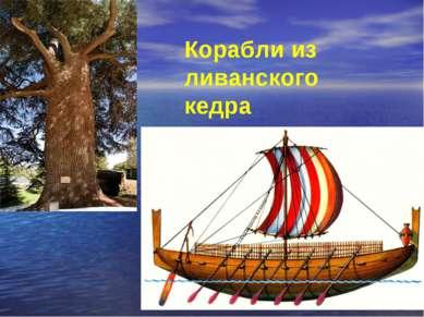 Корабли из ливанского кедра