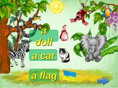 a cat a flag a doll