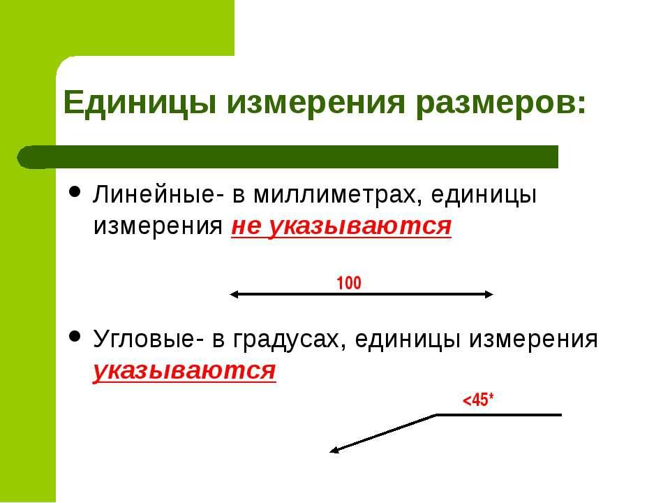 Единицы измерения размеров: Линейные- в миллиметрах, единицы измерения не ука...