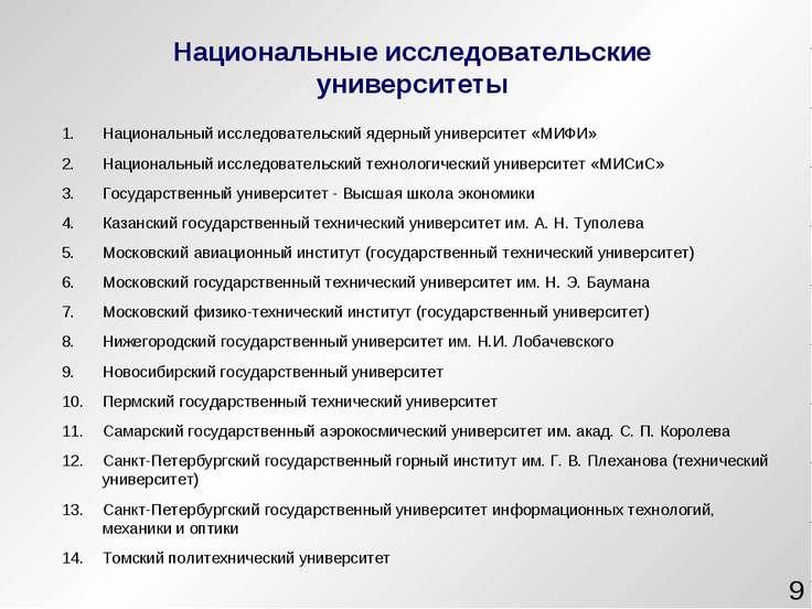 * Национальный исследовательский ядерный университет «МИФИ» Национальный иссл...