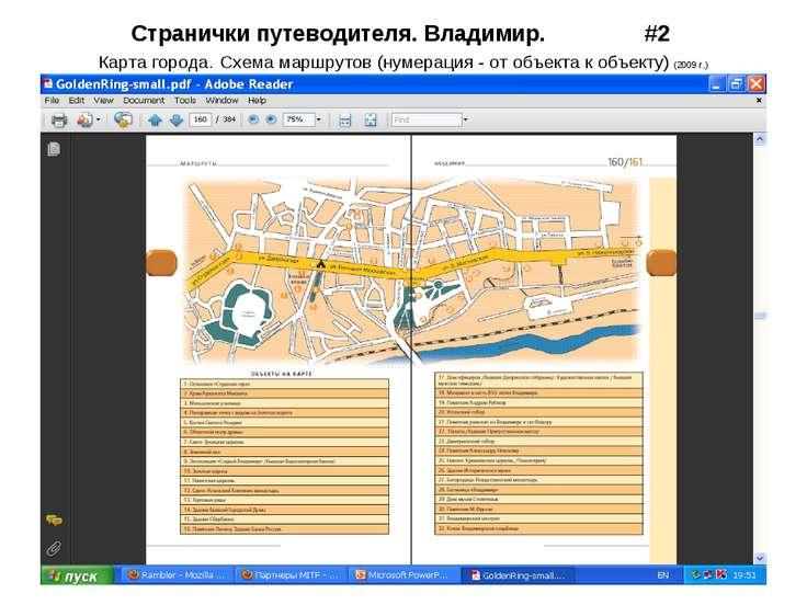 Странички путеводителя. Владимир. #2 Карта города. Схема маршрутов (нумерация...