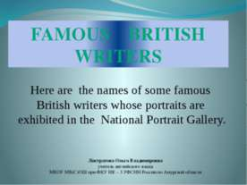 Famous British Writers