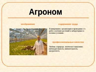 изображение содержание труда Планирование, организация и проведение с/х работ...
