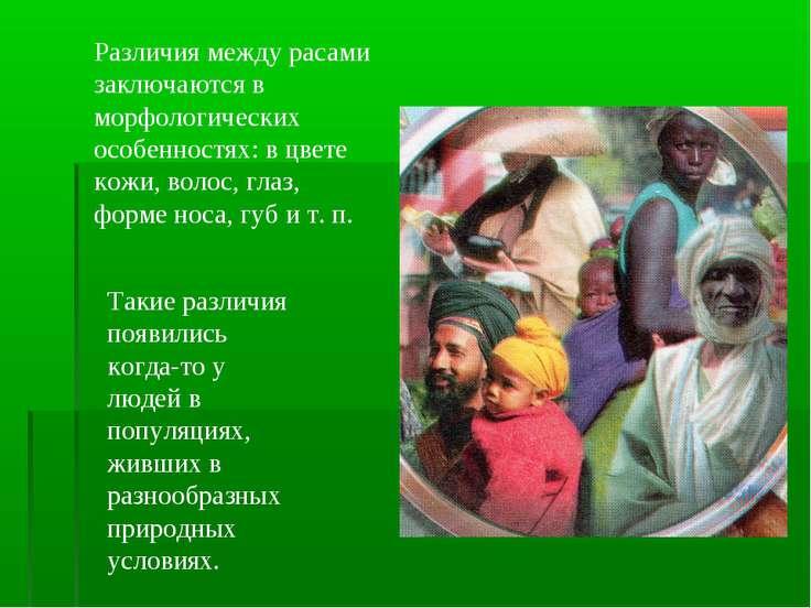 Различия между расами заключаются в морфологических особенностях: в цвете кож...