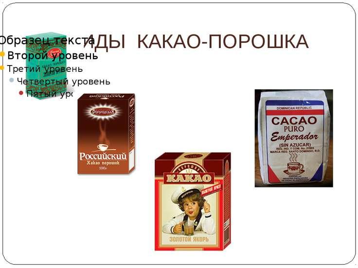 ВИДЫ КАКАО-ПОРОШКА