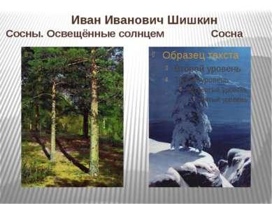 Иван Иванович Шишкин Сосны. Освещённые солнцем Сосна