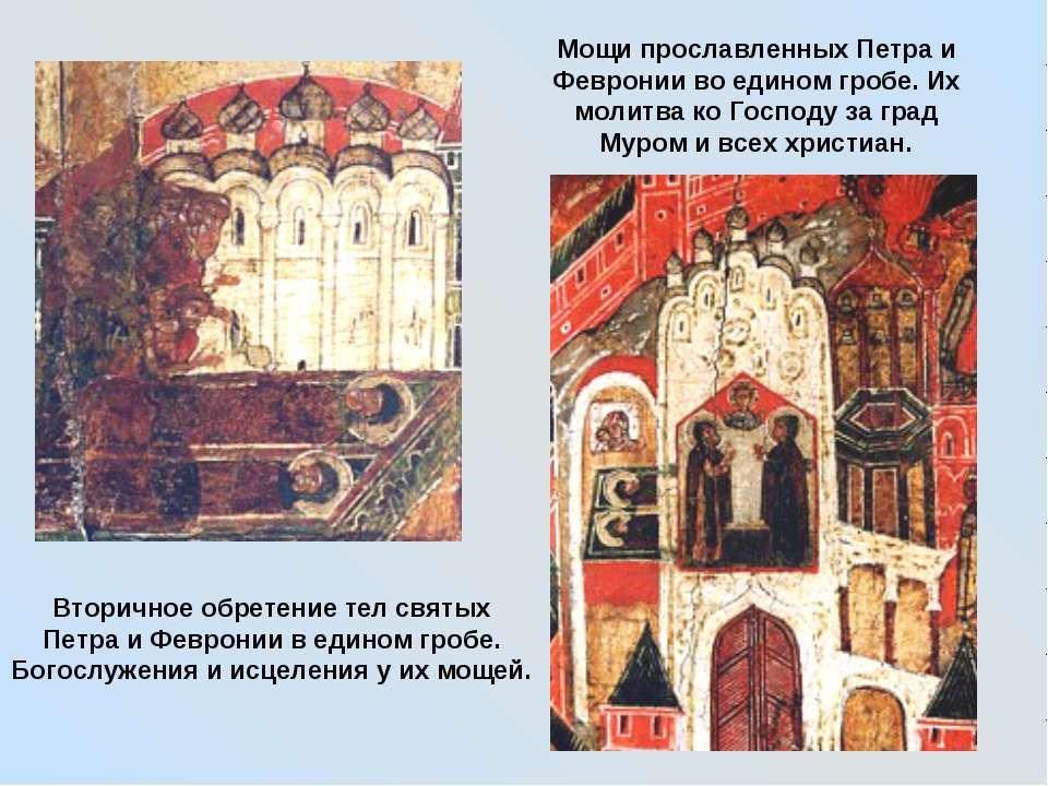 Вторичное обретение тел святых Петра и Февронии в едином гробе. Богослужения ...