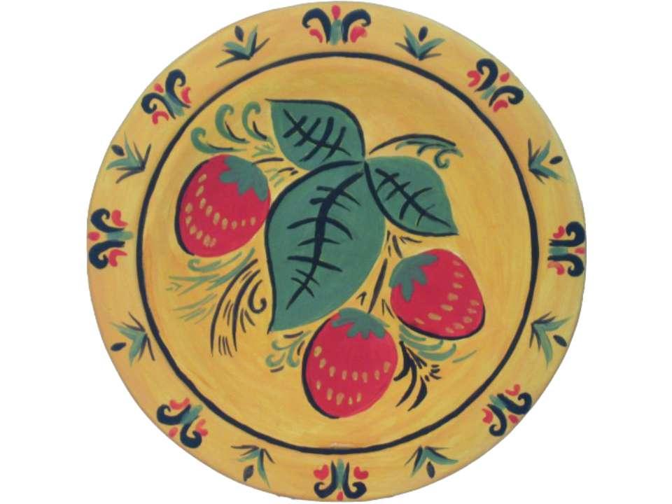 Роспись хохломских тарелок