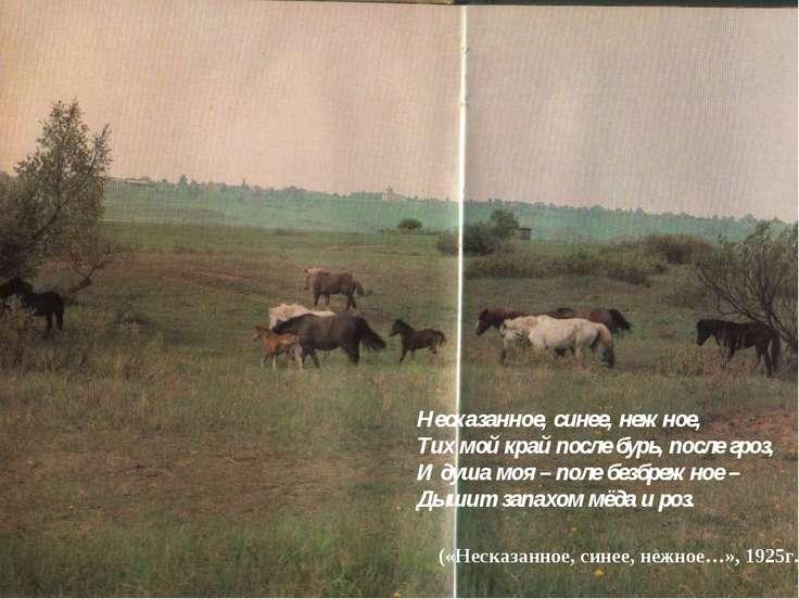 Несказанное, синее, нежное, Тих мой край после бурь, после гроз, И душа моя –...