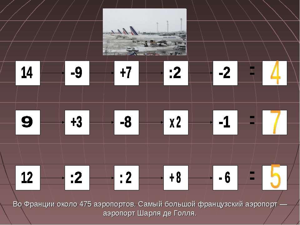Во Франции около 475 аэропортов. Самый большой французский аэропорт — аэропор...