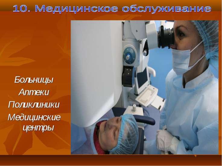 Больницы Аптеки Поликлиники Медицинские центры