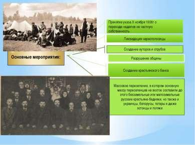 Принятие указа 9 ноября 1906г о переходе наделов на частную собственность Лик...