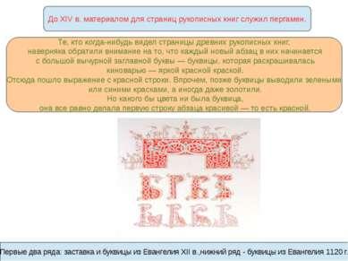 До XIV в. материалом для страниц рукописных книг служил пергамен. Те, кто ког...