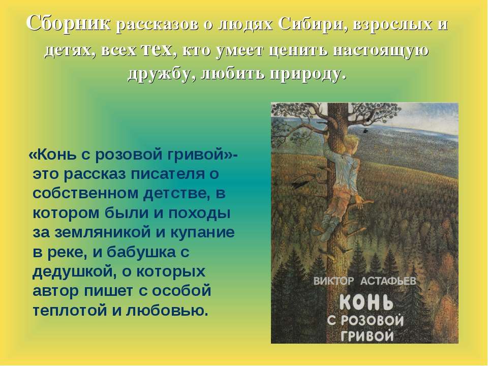 Сборник рассказов о людях Сибири, взрослых и детях, всех тех, кто умеет ценит...