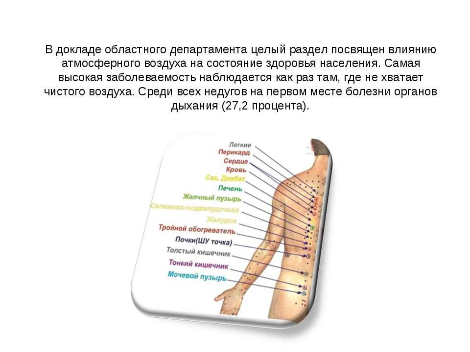 В докладе областного департамента целый раздел посвящен влиянию атмосферного ...