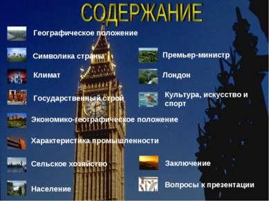 Географическое положение Символика страны Климат Государственный строй Эконом...