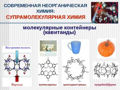 СОВРЕМЕННАЯ НЕОРГАНИЧЕСКАЯ ХИМИЯ: СУПРАМОЛЕКУЛЯРНАЯ ХИМИЯ молекулярные контей...