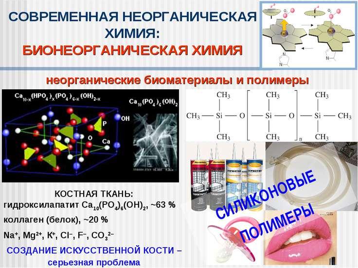 неорганические биоматериалы и полимеры СОВРЕМЕННАЯ НЕОРГАНИЧЕСКАЯ ХИМИЯ: БИОН...
