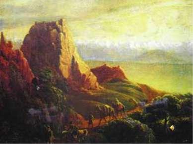 Развалины близ селения Караагач в Кахетии.1837-1838