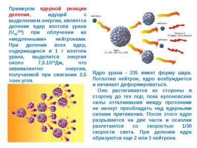 Примером ядерной реакции деления, идущей с выделением энергии, является делен...