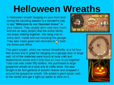 Helloween Wreaths A Halloween wreath hanging on your front door during the ha...