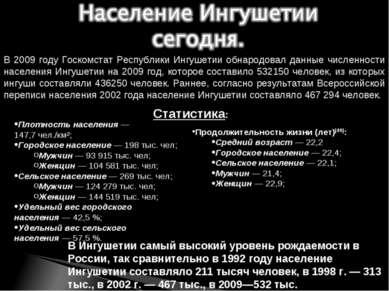 Плотность населения— 147,7чел./км²; Городское население— 198 тыс. чел; Муж...
