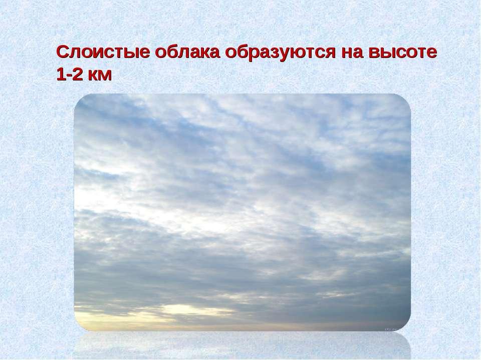 Слоистые облака образуются на высоте 1-2 км