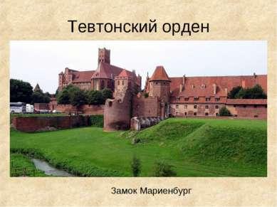 Тевтонский орден Замок Мариенбург
