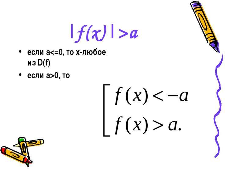|f(x)|>a если a0, то