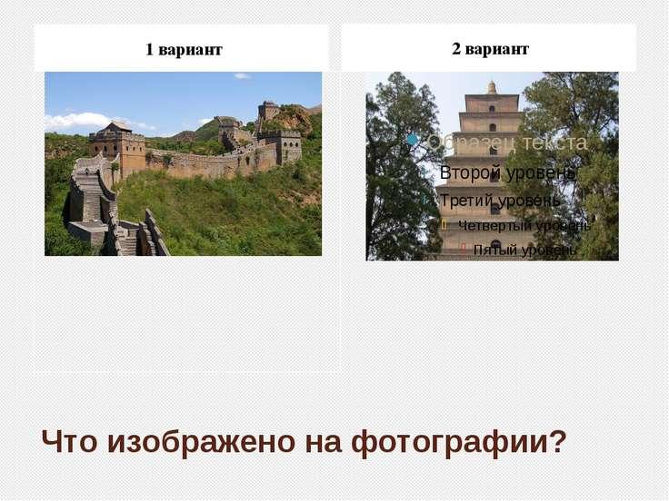 Что изображено на фотографии? 1 вариант 2 вариант