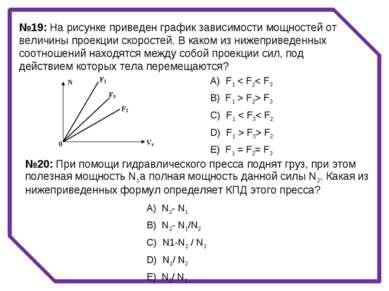 №19: На рисунке приведен график зависимости мощностей от величины проекции ск...