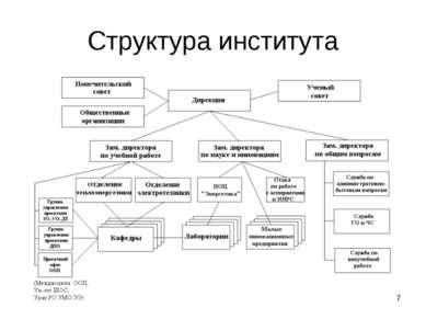 * Структура института