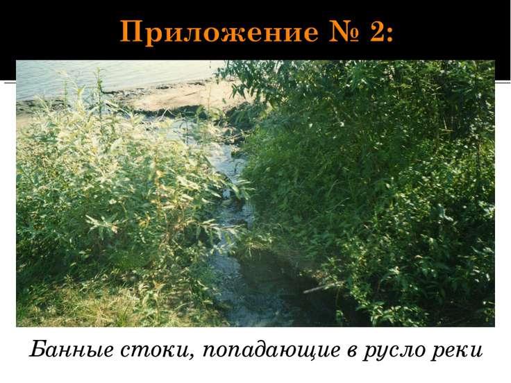 Банные стоки, попадающие в русло реки