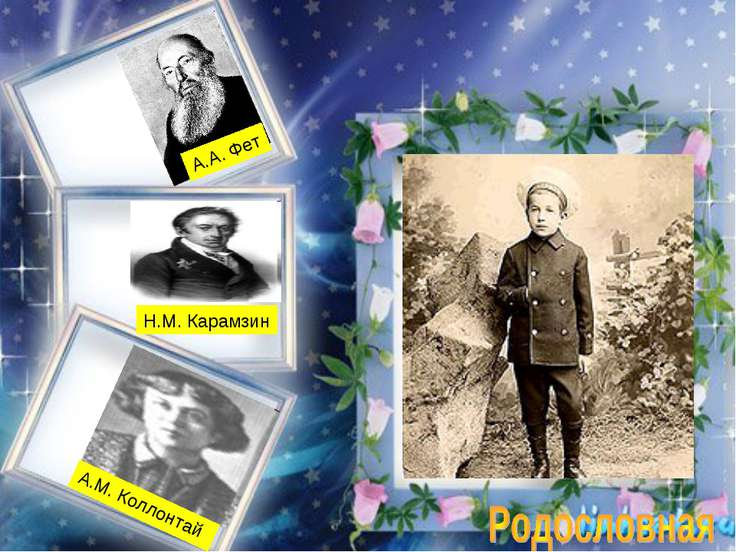 Н.М. Карамзин А.М. Коллонтай А.А. Фет
