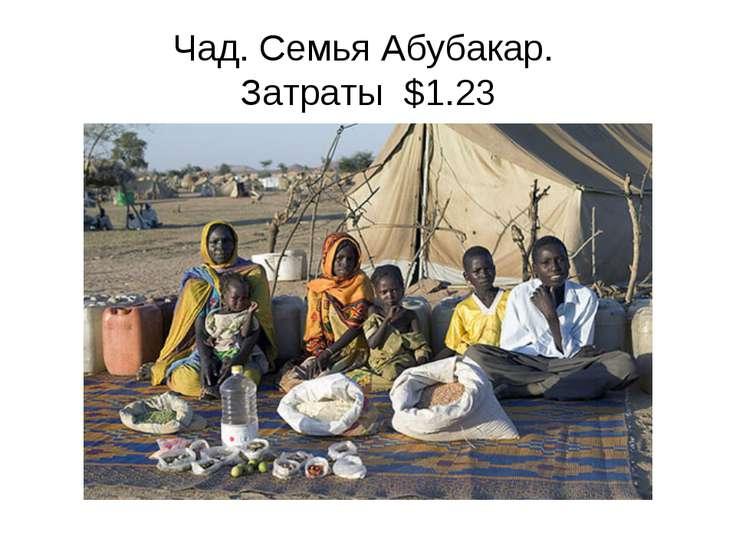 Чад. Семья Абубакар. Затраты $1.23