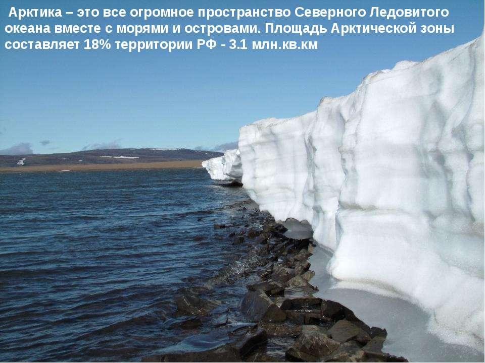 Арктика – это все огромное пространство Северного Ледовитого океана вместе с ...